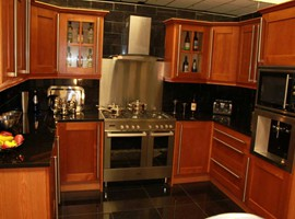 Cherry Oak Kitchen Units
